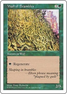 Wall of Brambles | Magic: The Gathering Card