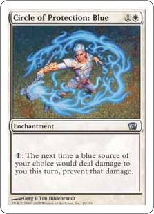 Circle of Protection: Blue | Magic: The Gathering Card