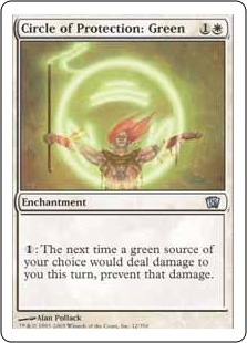 Circle of Protection: Green | Magic: The Gathering Card