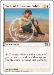 Circle of Protection: White | Magic: The Gathering Card