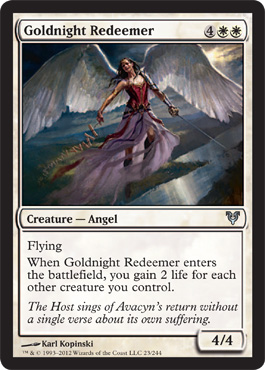 Goldnight Redeemer | Magic: The Gathering Card