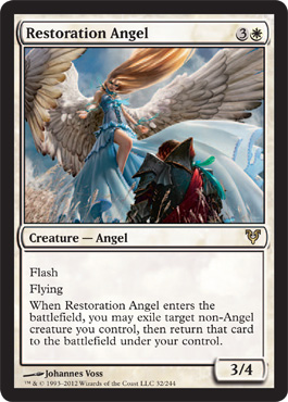 Restoration Angel | Magic: The Gathering Card
