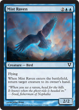 Mist Raven | Magic: The Gathering Card