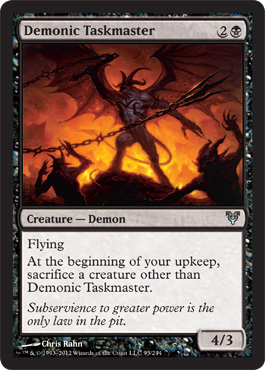 Demonic Taskmaster | Magic: The Gathering Card