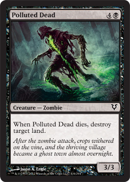 Polluted Dead | Magic: The Gathering Card