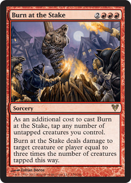 Burn at the Stake | Magic: The Gathering Card