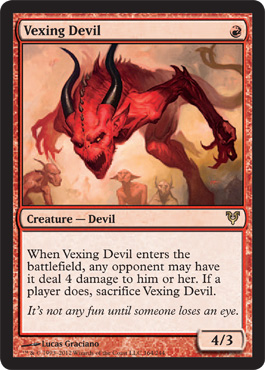 Vexing Devil | Magic: The Gathering Card