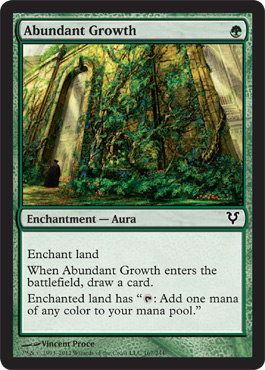 Abundant Growth | Magic: The Gathering Card
