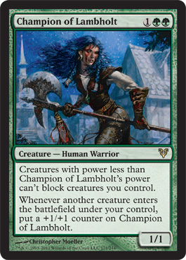 Champion of Lambholt | Magic: The Gathering Card