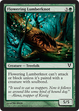Flowering Lumberknot | Magic: The Gathering Card
