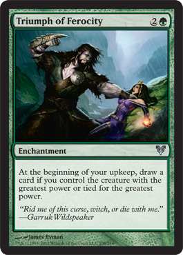 Triumph of Ferocity | Magic: The Gathering Card