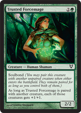 Trusted Forcemage | Magic: The Gathering Card