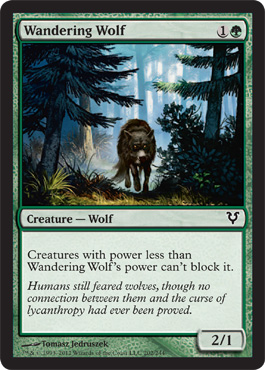 Wandering Wolf | Magic: The Gathering Card