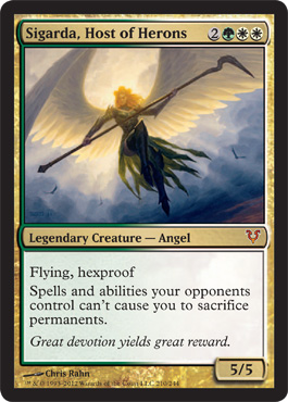 Sigarda, Host of Herons | Magic: The Gathering Card