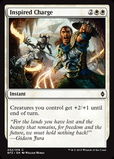 Inspired Charge | Magic: The Gathering Card