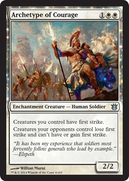 Archetype of Courage | Magic: The Gathering Card