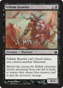 Felhide Brawler | Magic: The Gathering Card