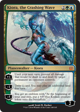 Kiora, the Crashing Wave in Born of the Gods