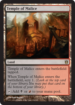 Temple of Malice | Magic: The Gathering Card