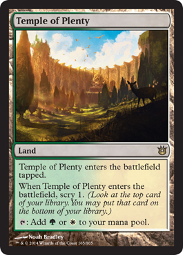 Temple of Plenty | Magic: The Gathering Card