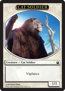 Cat Soldier Token | Magic: The Gathering Card