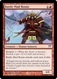 Battle-Mad Ronin | Magic: The Gathering Card
