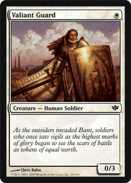 Valiant Guard | Magic: The Gathering Card