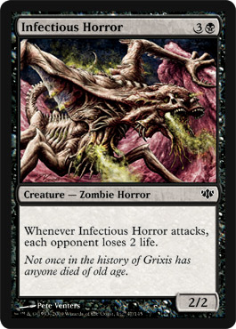 Infectious Horror | Magic: The Gathering Card