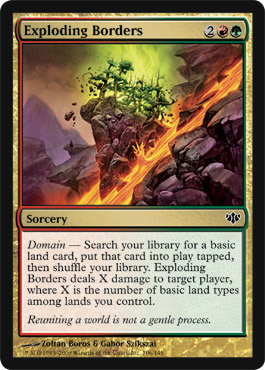Exploding Borders | Magic: The Gathering Card