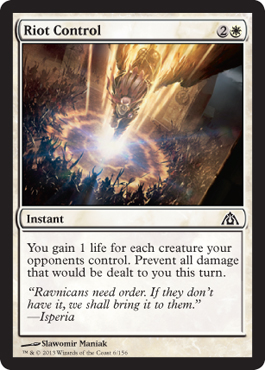 Riot Control | Magic: The Gathering Card