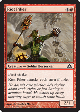 Riot Piker | Magic: The Gathering Card
