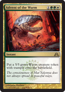 Advent of the Wurm | Magic: The Gathering Card