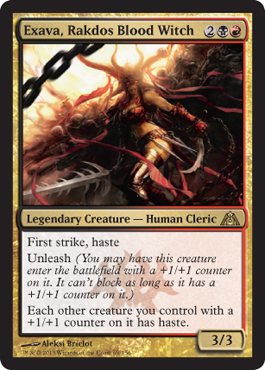 Exava, Rakdos Blood Witch | Magic: The Gathering Card