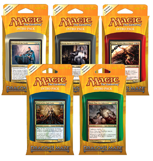 Magic the Gathering Dragon's Maze Intro Pack