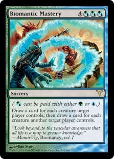 Biomantic Mastery | Magic: The Gathering Card