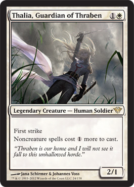 Thalia, Guardian of Thraben | Magic: The Gathering Card