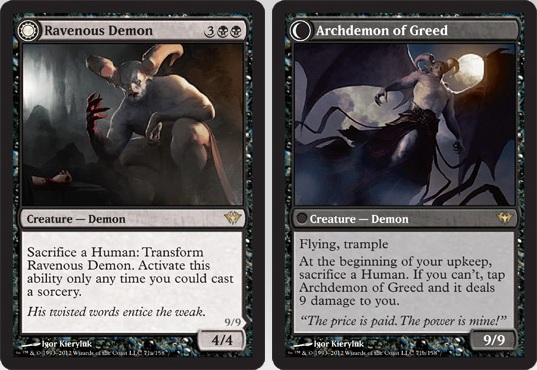Ravenous Demon / Archdemon of Greed | Magic: The Gathering Card