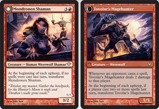 Mondronen Shaman / Tovolar's Magehunter | Magic: The Gathering Card