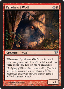 Pyreheart Wolf | Magic: The Gathering Card