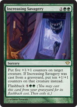 Increasing Savagery | Magic: The Gathering Card
