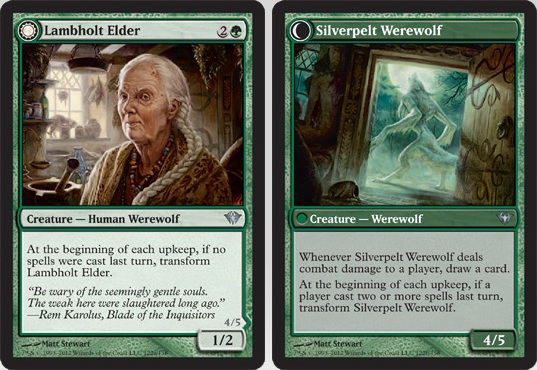 Lambholt Elder / Silverpelt Werewolf | Magic: The Gathering Card