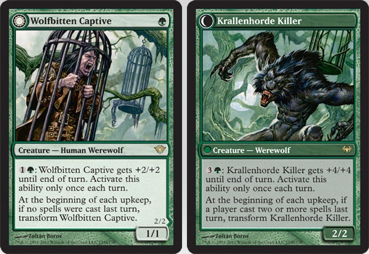 Wolfbitten Captive / Krallenhorde Killer | Magic: The Gathering Card