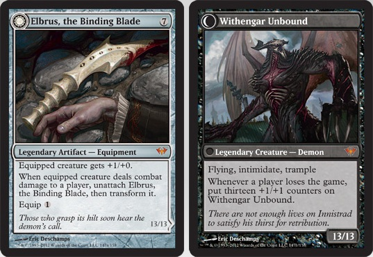 Elbrus, the Binding Blade / Withengar Unbound | Magic: The Gathering Card