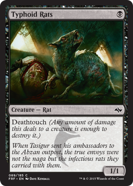 Typhoid Rats | Magic: The Gathering Card