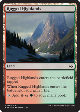 Rugged Highlands | Magic: The Gathering Card