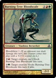 Burning-Tree Bloodscale | Magic: The Gathering Card