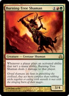 Burning-Tree Shaman | Magic: The Gathering Card