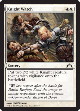 Knight Watch | Magic: The Gathering Card