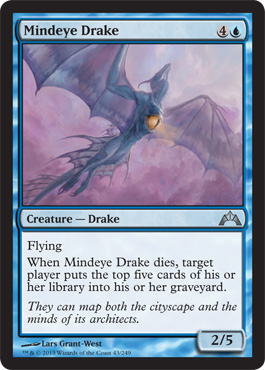 Mindeye Drake | Magic: The Gathering Card