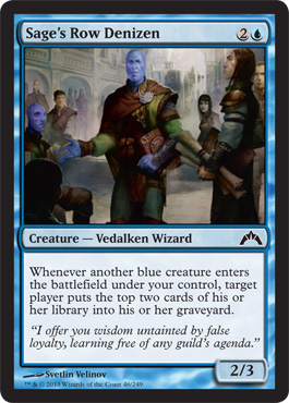 Sage's Row Denizen | Magic: The Gathering Card